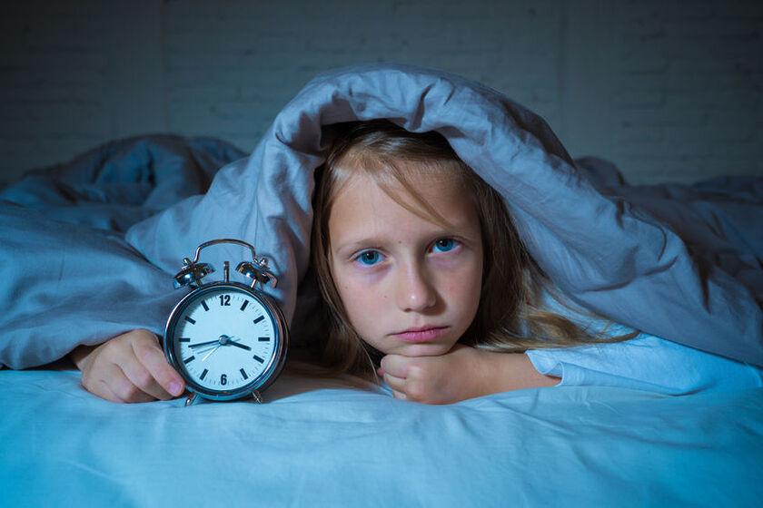 Dziewczynka cierpi na bezsenność