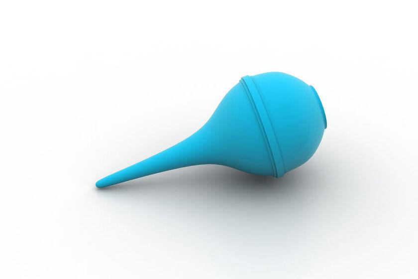 Niebieska gruszka do ucha