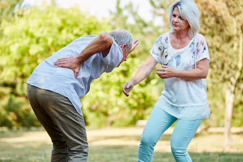 Ból pleców u seniora