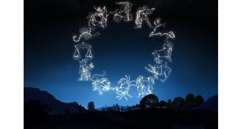 Zodiak - znaki zodiaku na niebie