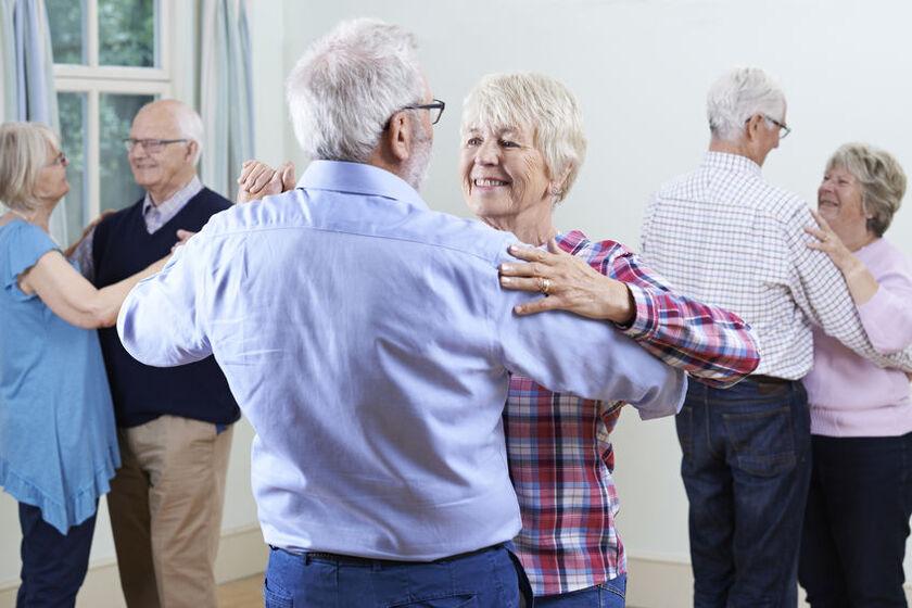 Lekcja tańca na Uniwersytecie Trzeciego Wieku