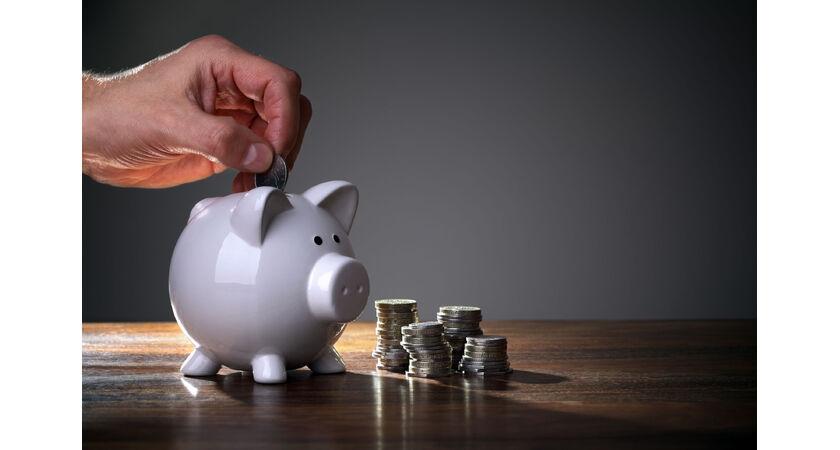 świnka skarbonka i pieniądze