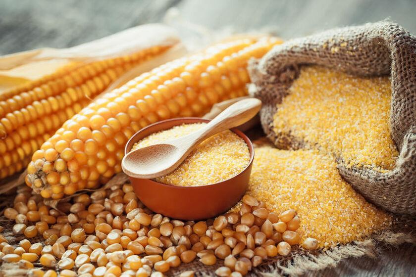 Kasza kukurydziana i kolby kukurydzy