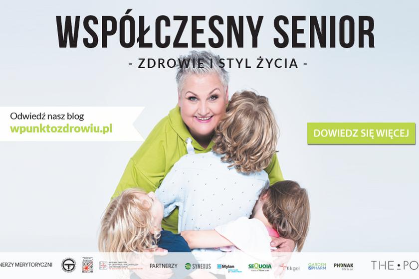 Plakat współczesny senior