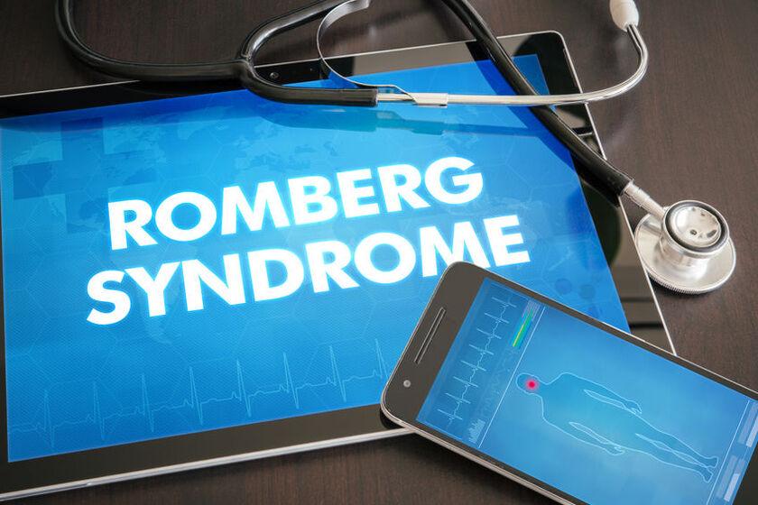 Tablet z wyświetlonym napisem - próba Romberga