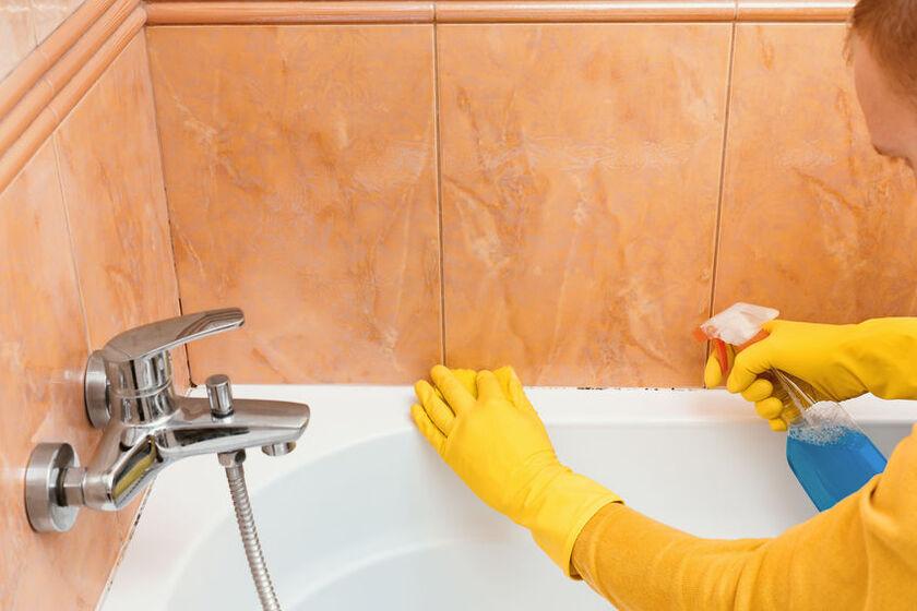 Grzyby pleśniowe w łazience