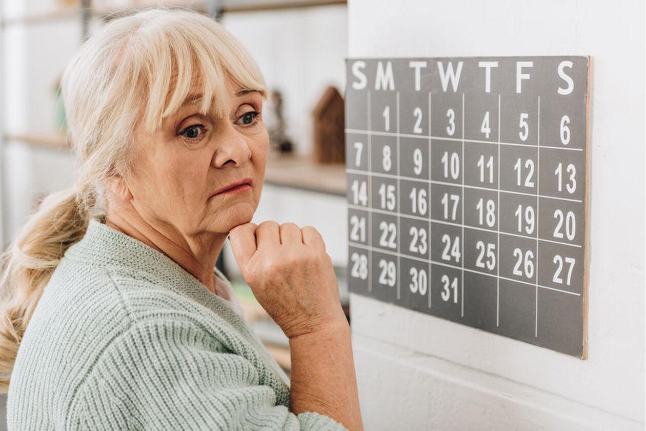 Kobieta z objawami otępienia naczyniowego