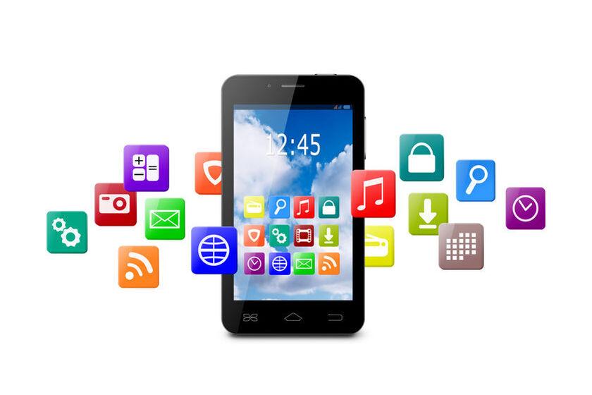 Smartphone i ikony aplikacji dla seniorów