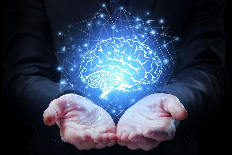 Wizualizacja ludzkiego mózgu