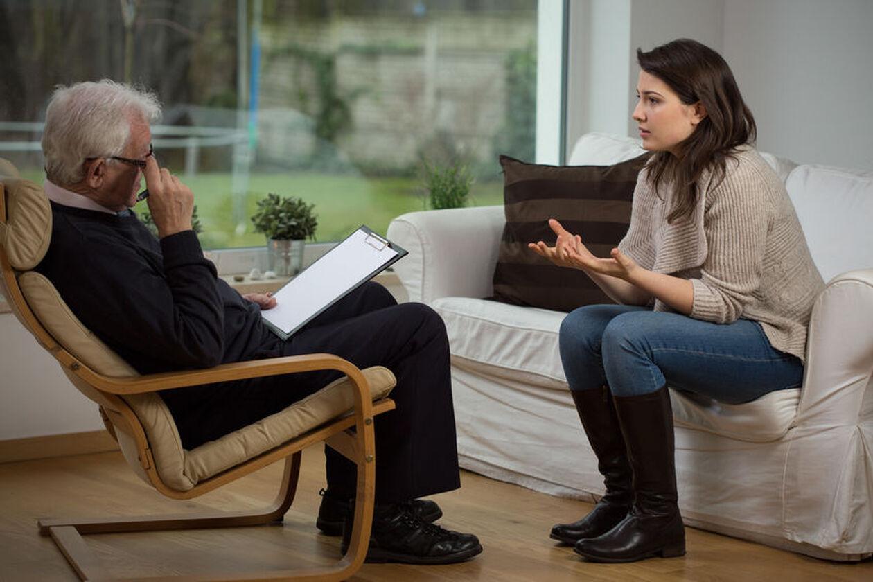 Kobieta na wizycie u psychiatry