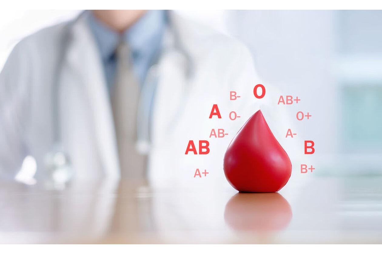 Próbka z pobraną krwią z grupy AB