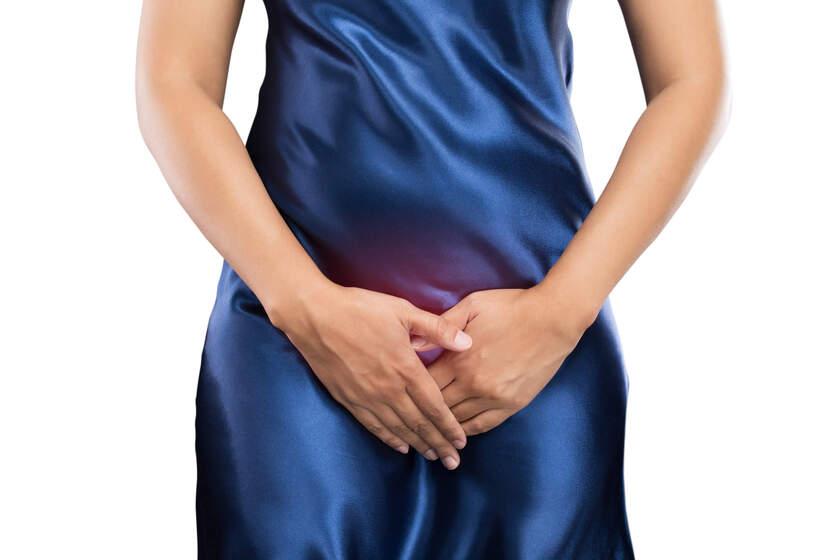 Kobieta cierpi z powodu choroby intymnej