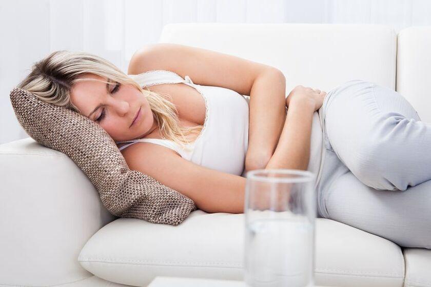 Kobieta z miesiączką