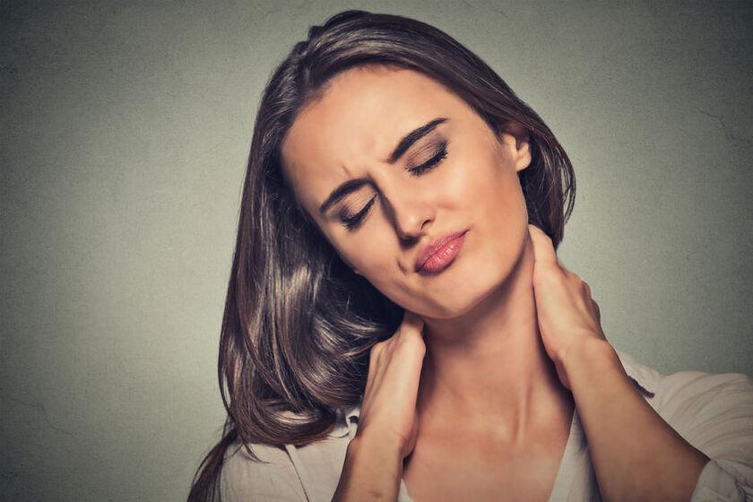 Pacjenta cierpiąca na chorobę fibromialgia