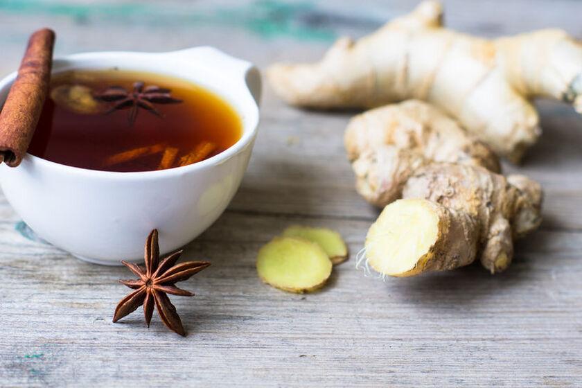 Herbata z imbirem na grypę i przeziębienie