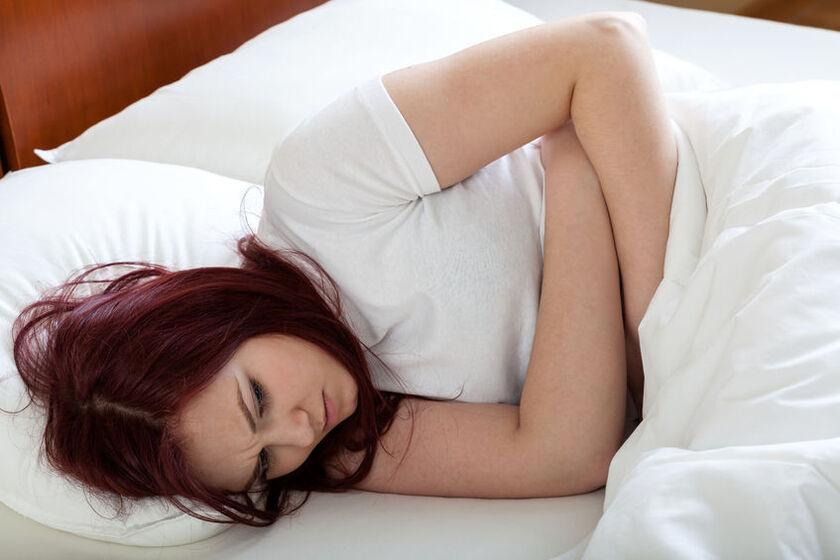 Kobieta z chorą wątrobą