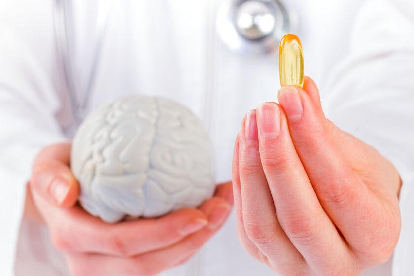 Kapsułka na mózgu w postaci grafiki wektorowej