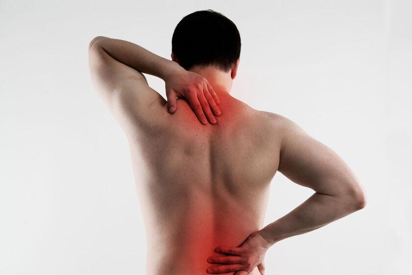 Osoba z kontuzją kręgosłupa