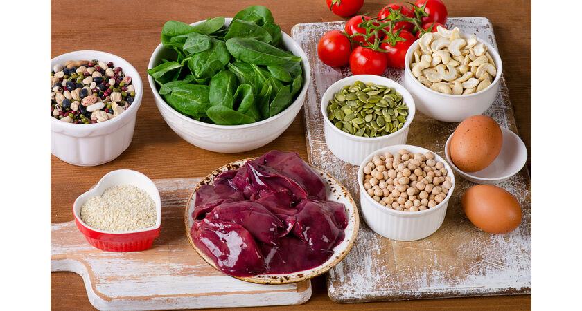 Produkty spożywcze zawierające dużo żelaza