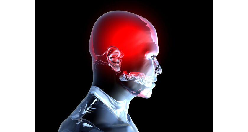 Człowiek z obrzękiem mózgu