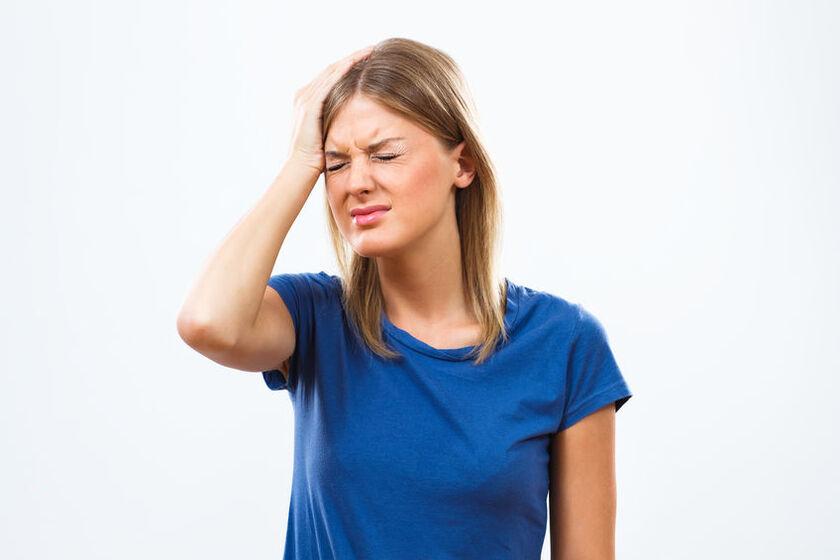 Mocny ból głowy