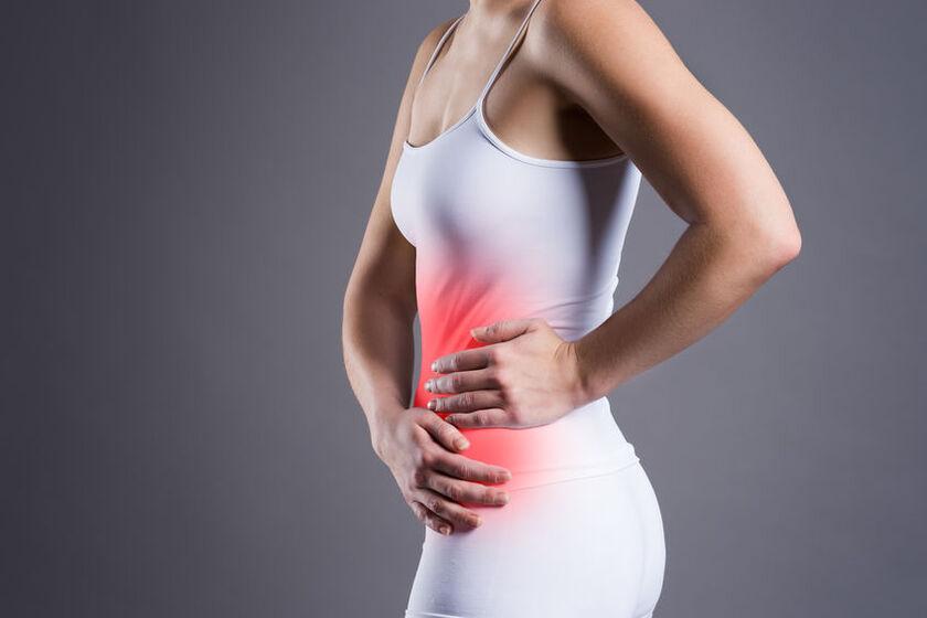 Ból brzucha pod żebrami z lewej